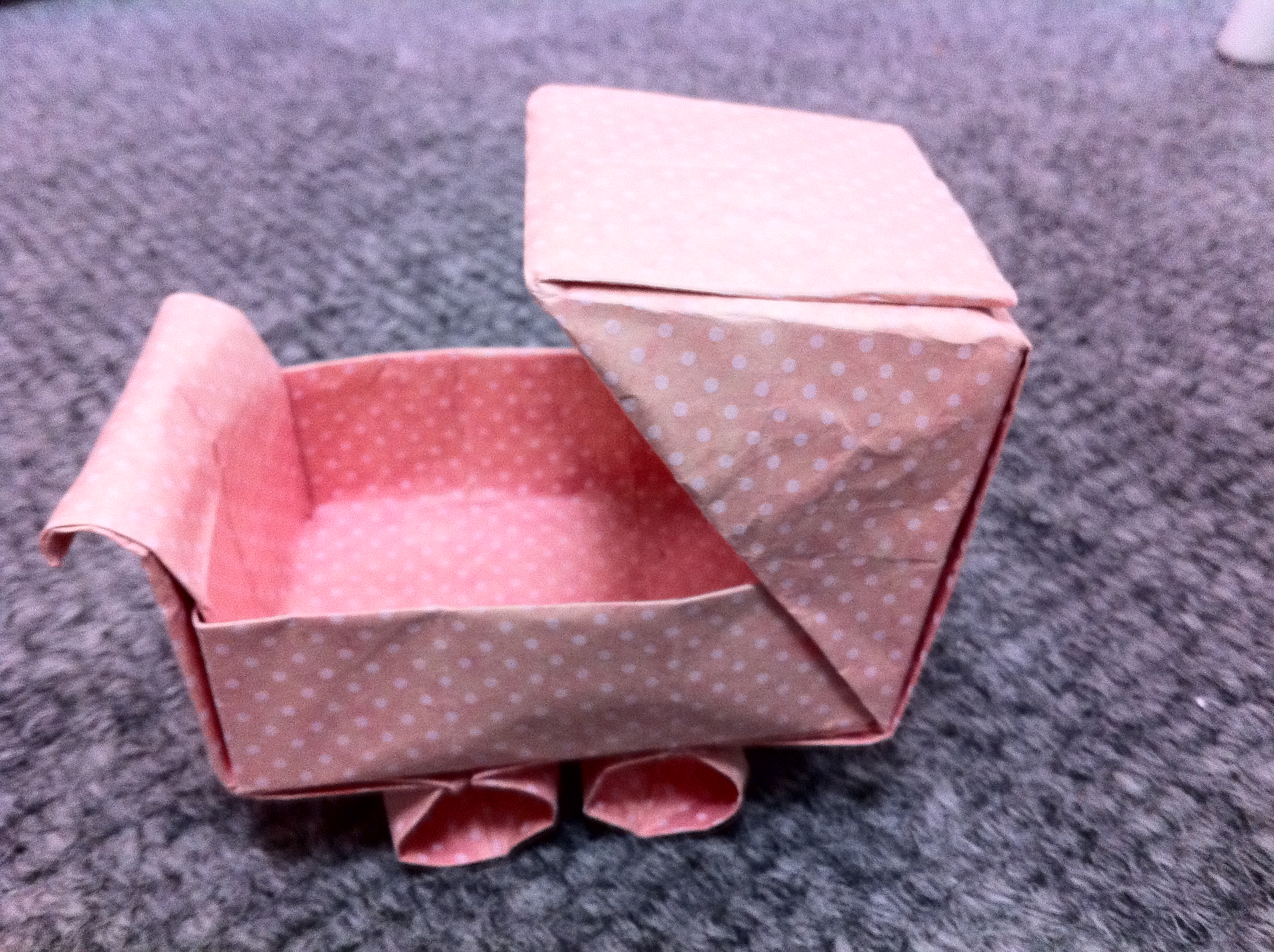 This Origami Baby Buggy